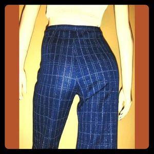 😎VTG 70s DISCO Glitter Metallic Hip Hugger Pants!